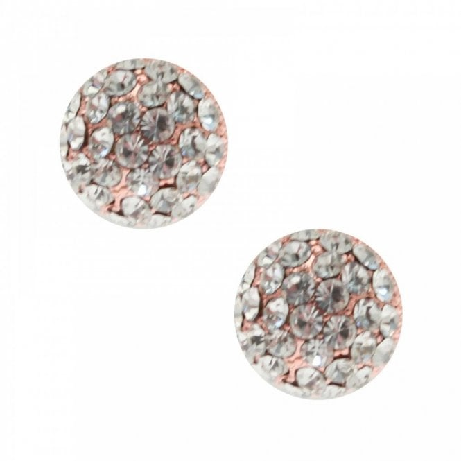 Nour London Half Spherical Crystal Stud Earrings