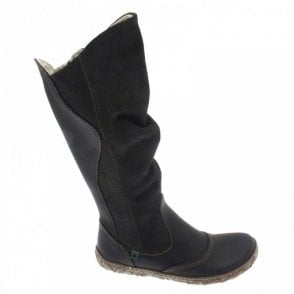 El Natura Lista Hand Stitch Detail Flat Long Boot