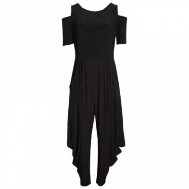 Harem Style Cold Shoulder Jumpsuit