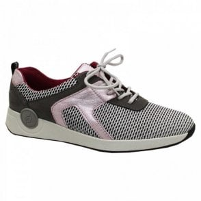 Harja Soft Fabric Lace Up Trainer