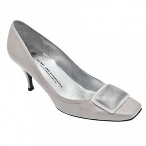 Heel Court Shoe With Buckle Detail
