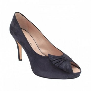 Hidden Platform Peep Toe Bow Court