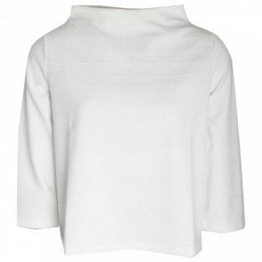 High Cowl Neck Long Sleeve Knit Jumper