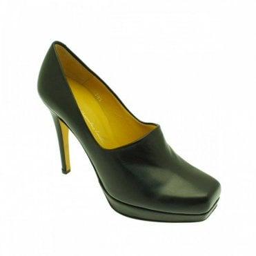 High Front Platform High Heel Court Shoe