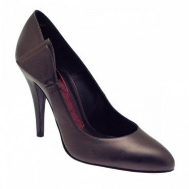 High Heel Court Shoe With Side Bow