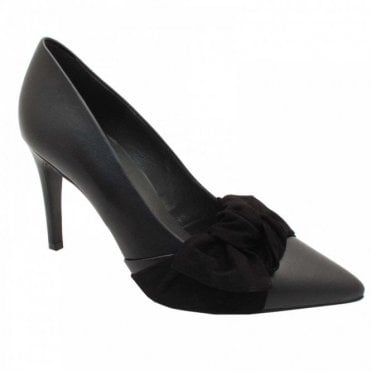 Peter Kaiser High Heel Court Shoe With Suede Bow