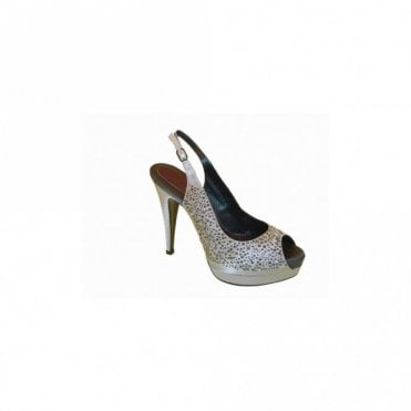 Magrit High Heel Platform Sandal With Diamante