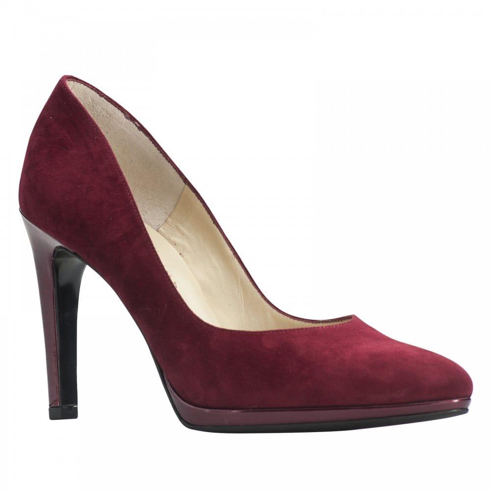 kaiser high heel thin platform court shoe