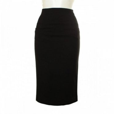 High Waisted Pencil Skirt With Pockets