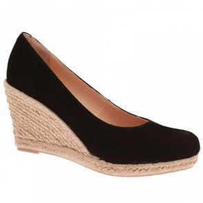 High Wedge Closed Toe Shoe