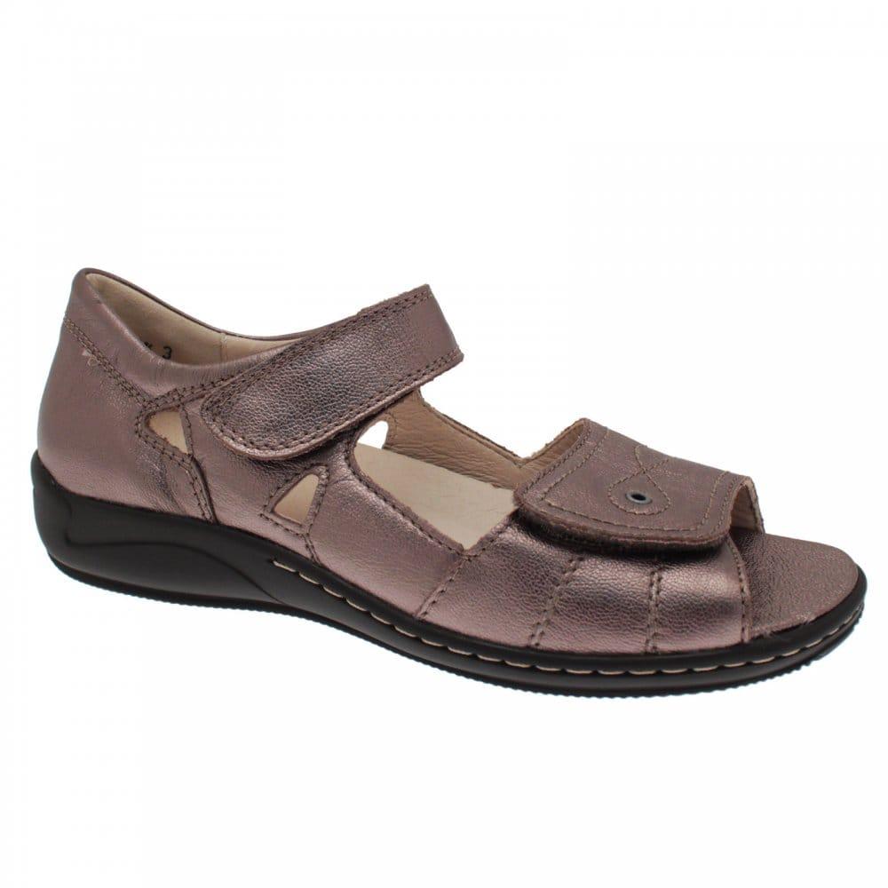 save off c9fc0 4f08a Hilena Velcor Strap Flat Sandal