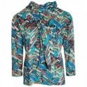 Hudson & Onslow Inca Print Long Sleeve Top