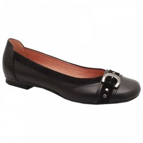 Indiana Buckle Detail Ballet Pump