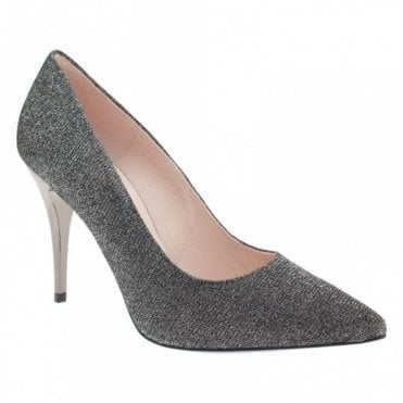 Ivi High Heel Shimmer Court Shoe