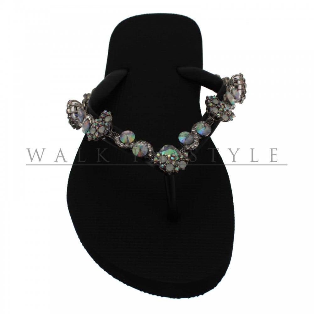 f38bb90e5 Uzurii Jenny Flat Crystal Flip Flop - Uzurii from Walk in Style UK