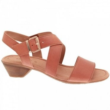 Jenya Low Heel Cross Over Sandal