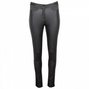 Badoo Jersey Backed Faux Leather Trousers