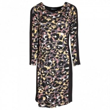 Jersey Printed Long Sleeve Dress