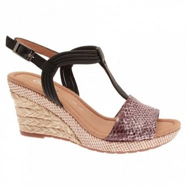 Gabor Jess T Bar Wedge Sandal