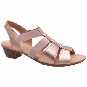 Joan Low Heel Strappy Sandal