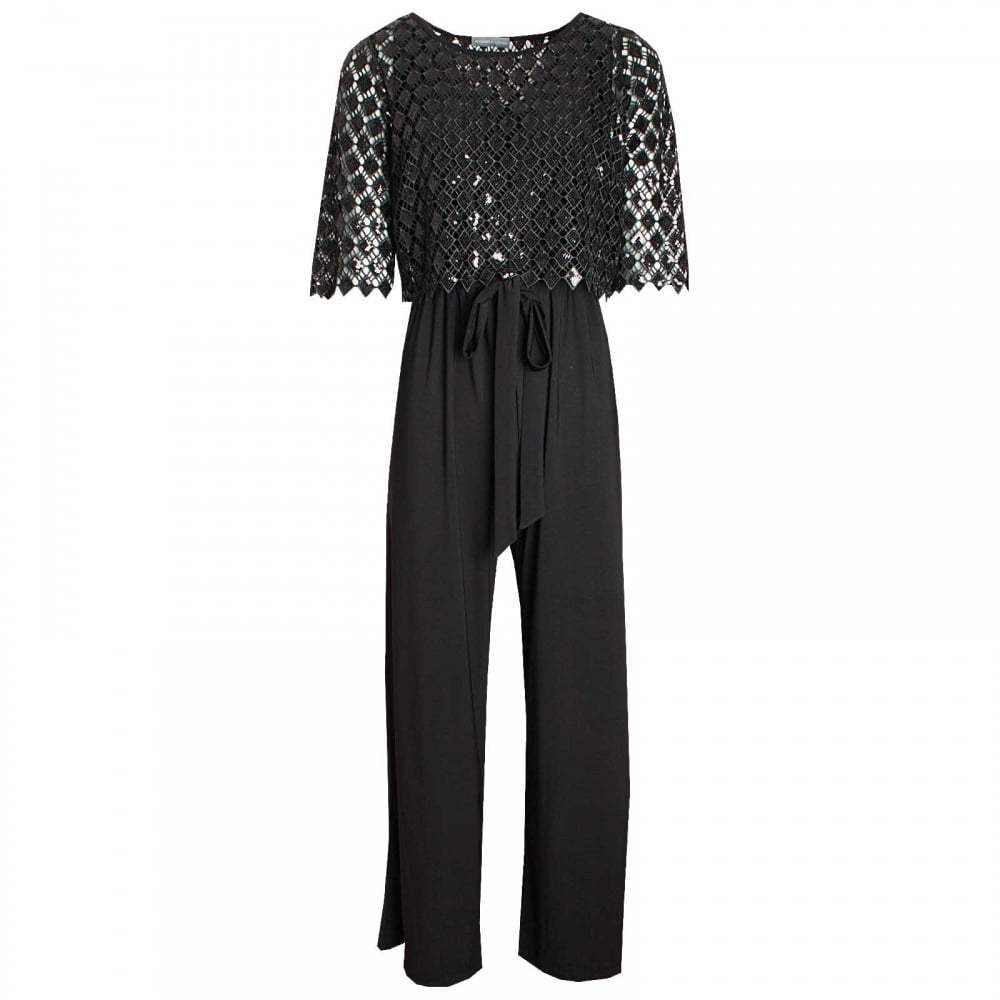 b1c2c178 Jumpsuit With Overlay Sequin Top Michaela Louisa At Walk In Style