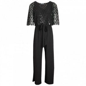 Jumpsuit With Overlay Sequin Top