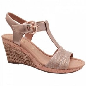 Gabor Karen T Bar Wedge Sandal