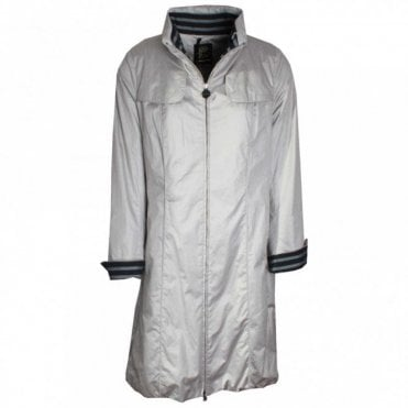 Knee Length Raincoat With Turn Up Cuffs