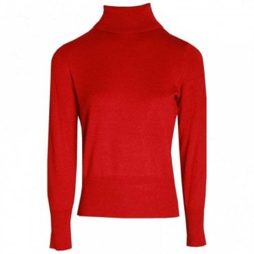 Knitted Long Sleeve Polo Jumper
