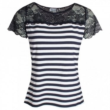 Lace Detail Short Sleeve T-shirt