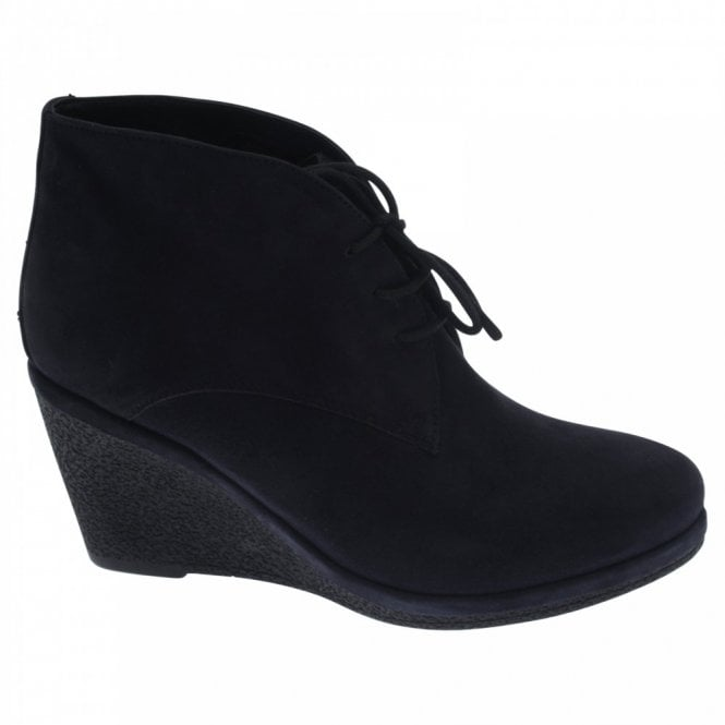 Vanilla Moon Lace Up Suede Wedge Ankle Boot