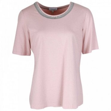 Ladies Pink Short Sleeve Cotton T-shirt