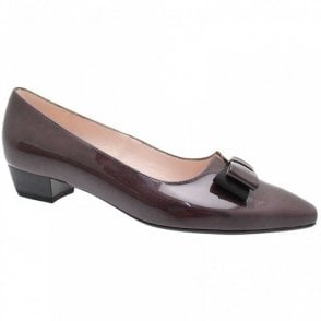 Laila Low Heel Court Shoe With Bow