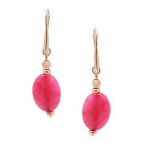Large Stone Drop Earrings