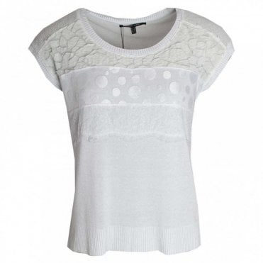 Laser Cut Detail Short Sleeve Top