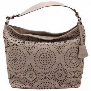 Laser Cut Detail Shoulder Handbag