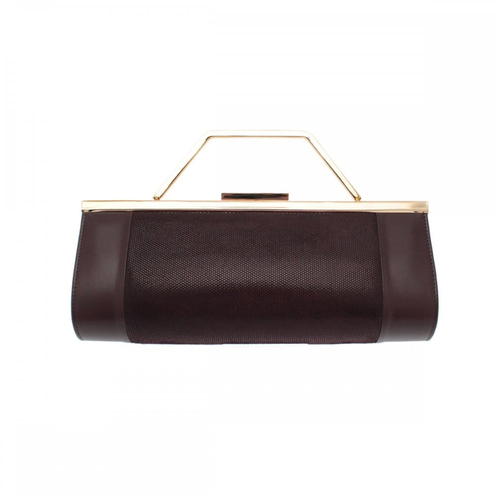 Renata Leather 3 In 1 Brown Clutch Bag