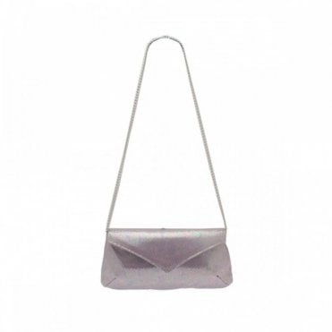Leather Clutch Bag With Shoulder Chain