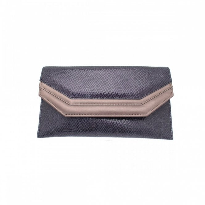 Sabrina Chic Leather Envelope Style Clutch Bag