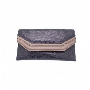 Leather Envelope Style Clutch Bag