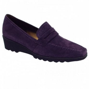 Leather High Front Moccasin Shoe