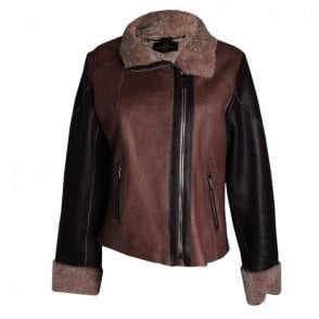 Leather Sheepskin Lined Biker Jacket