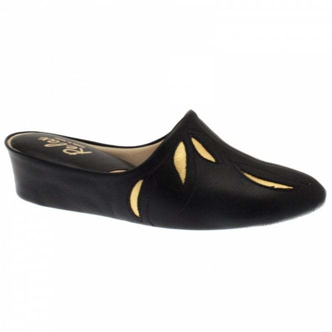 Relax Leather Slip On Slipper