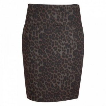 Up! Leopard Print Pencil Skirt