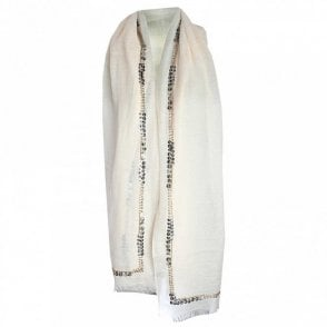Lightweight Long Sequin Trim Scarf