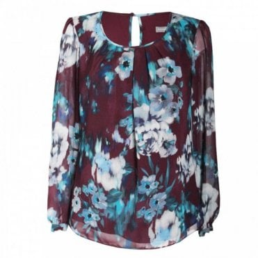 Lightweight Long Sleeve Floral Print Top