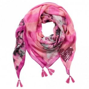Betty Barclay Lightweight Multi Print & Sequin Scarf