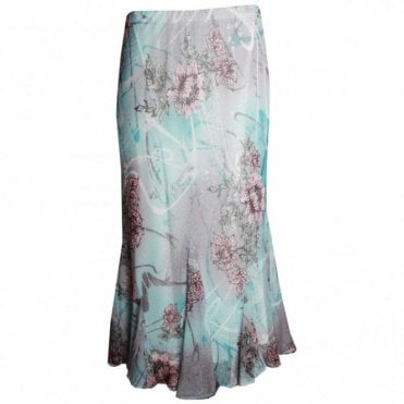 Hudson & Onslow Lightweight Printed Long Skirt