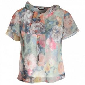 Hudson & Onslow Lightweight Waterlily Print Blouse
