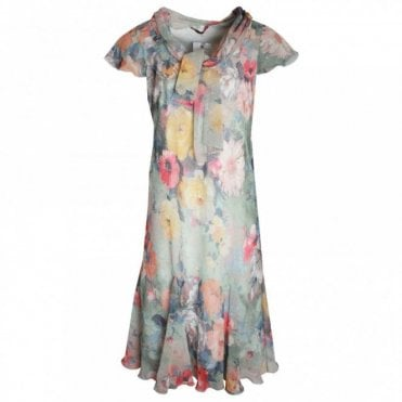 Lightweight Waterlily Print Dress